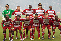 CARSON, CA – OCTOBER 24: FC Dallas starting lineup for the soccer match at the Home Depot Center, October 24, 2010 in Carson, California. Final score LA Galaxy 2, Dallas FC 1.