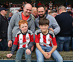 Sheffield Utd fans for fans feature during the English League One match at Glanford Park Stadium, Scunthorpe. Picture date: September 24th, 2016. Pic Simon Bellis/Sportimage