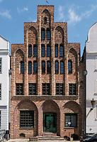 gotisches Haus Baumhaus von 1490 in Rostock, Mecklenburg-Vorpommern, Deutschland