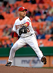 18 May 2007: Washington Nationals pitcher Jason Simontacchi in action against the Baltimore Orioles at RFK Stadium in Washington, DC. The Orioles defeated the Nationals 5-4 in the first game of the 3-game interleague series...Mandatory Photo Credit: Ed Wolfstein Photo