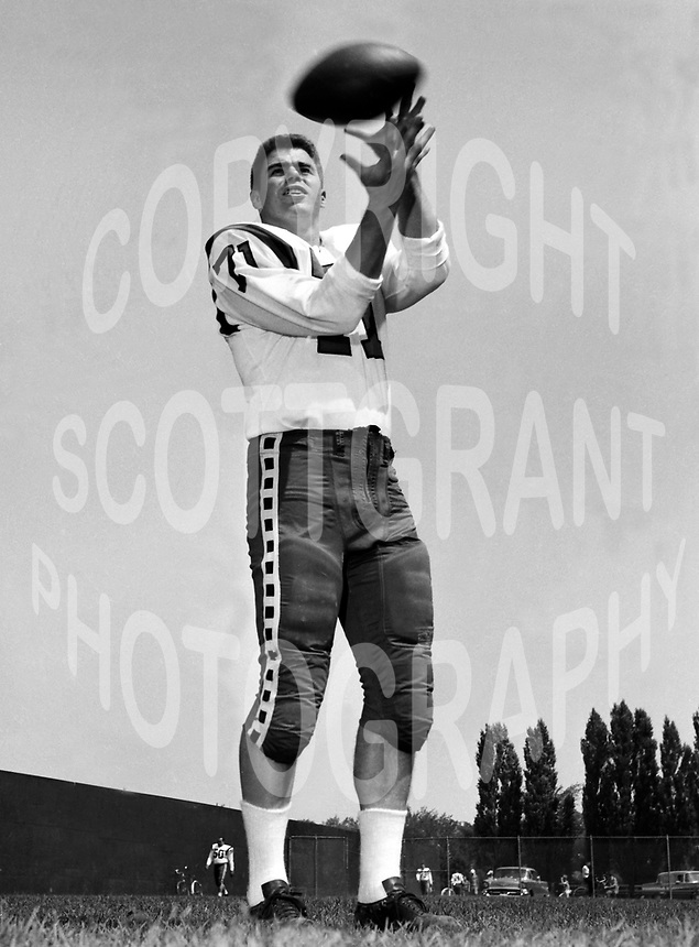 Ted Smale Ottawa Rough Riders 1960. Photo Ted Grant