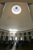 The University of Virginia rotunda in snow winter located in Charlottesville, VA.  Credit Image: © Andrew Shurtleff