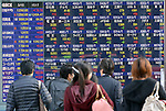 March 15, 2013, Tokyo, Japan - Tokyo stocks continue higher with the Nikkei Stock Average closing up 179.76 points to end the day at 12,560.95 on the Tokyo Stock Exchange market on Friday, March 15, 2013. The index is at its highest level since Sept. 8, 2008.  (Photo by Natsuki Sakai/AFLO)