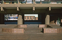 London:  Barbican--Ventilator-Benches as Sculptural Elements.  Photo '90.