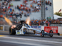 Sep 29, 2017; Madison , IL, USA; NHRA top fuel driver Shawn Langdon during qualifying for the Midwest Nationals at Gateway Motorsports Park. Mandatory Credit: Mark J. Rebilas-USA TODAY Sports
