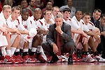 MADISON, WI - NOVEMBER 3: Head coach Bo Ryan and the Wisconsin Badgers watch from the bench during the game against the University of Wisconsin-Stout Blue Devils at the Kohl Center on September 3, 2006 in Madison, Wisconsin. The Badgers beat the Blue Devils 82-33. Photo by David Stluka