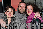 Christine Doyle-Farrell, Cahermoneen & London, Luke Farrell, London and Abigail McDonnell, Ballyseedy enjoying a great time celebrating the New Year at Willie Darcy's bar.