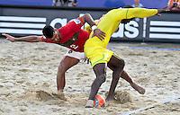 RAVENNA, ITALIA, 08 DE SETEMBRO DE 2011 - COPA DO MUNDO DE BEACH SOCCER - <br /> <br /> PORTUGAL X SENEGAL- Coimbra jogador  do Portugal durante de partida contra a Senegal, válida <br /> <br /> pelas quartas de final da Copa do Mundo de Beach Soccer, no Estádio Del Mare, em <br /> <br /> Ravenna, Itália, nesta quinta-feira (8). FOTO: VANESSA CARVALHO - NEWS FREE