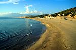 Famous long sandy beach at Patara, Mugla province, Turkey