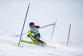 17th March 2018, Àvet Slope, Soldeu, Andorra; FIS Alpine Ski European Cup, Slalom Ladies Finals; #33 PAU Nuria from ESP during the Slalom Final