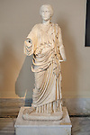 Statue Of A Woman From Aptera, Crete, Late Antonine Dynasty, Second Half Second Century AD., Istanbul Archaeology Museum