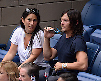 FLUSHING NY- SEPTEMBER 09: Norman Reedus is sighted watching Novak Djokovic Vs Gael Monfils during the mens semi finals on Arthur Ashe Stadium at the USTA Billie Jean King National Tennis Center on September 9, 2016 in Flushing Queens. Credit: mpi04/MediaPunch
