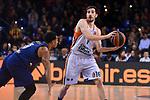Turkish Airlines Euroleague 2017/2018.<br /> Regular Season - Round 8.<br /> FC Barcelona Lassa vs Valencia Basket: 89-71.<br /> Phil Pressey vs Guillem Vives.