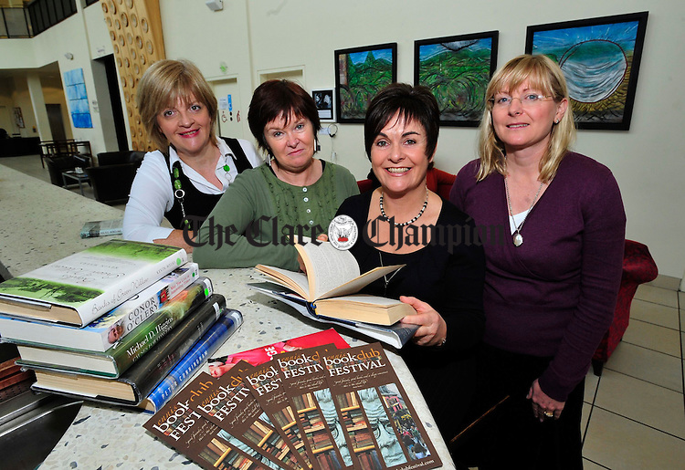 Ennis Book Festival organisers Mary Conneely, Frances O' Gorman, Ciana Campbell and Paula Shiels. Photograph by Declan Monaghan