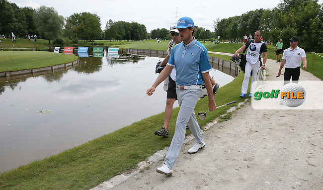 Cyril Bouniol (FRA) heading to the 16th during Round One of the 2015 BMW International Open at Golfclub Munchen Eichenried, Eichenried, Munich, Germany. 25/06/2015. Picture David Lloyd | www.golffile.ie