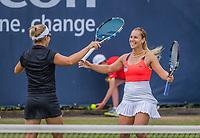 Den Bosch, Netherlands, 17 June, 2017, Tennis, Ricoh Open,  Woman's doubles Final : Dominika Cibulkova (SVK) / Kirsten Flipkens (BEL) (L) celebrating  matchpoint<br /> Photo: Henk Koster/tennisimages.com