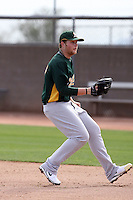 Brett Anderson  - Oakland Athletics 2009 spring training.Photo by:  Bill Mitchell/Four Seam Images