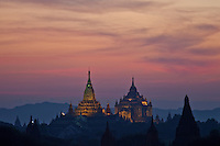 Sunset over Plains of Bagan, Burma