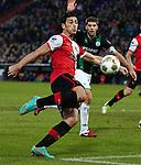 Nederland, Rotterdam, 23 december  2012.Eredivisie.Seizoen 2012/2013.Feyenoord-FC Groningen.Graziano Pelle van Feyenoord scoort de 2-1