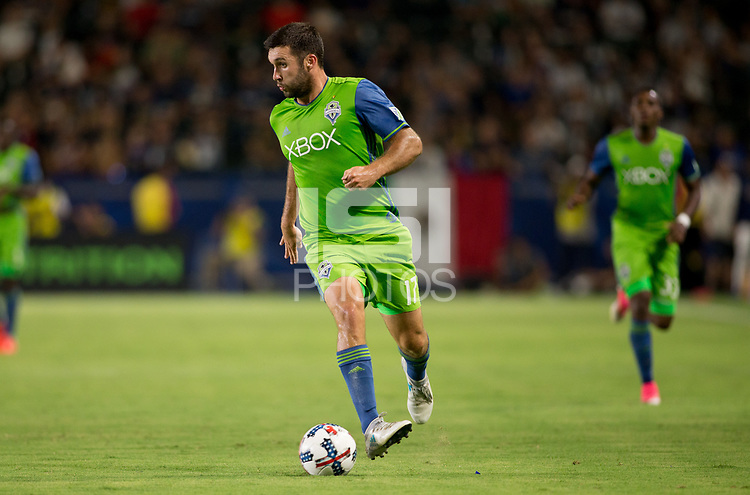 Carson, CA - Saturday July 29, 2017: Will Bruin during a Major League Soccer (MLS) game between the Los Angeles Galaxy and the Seattle Sounders FC at StubHub Center.