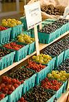 Cartons of fruit at a market