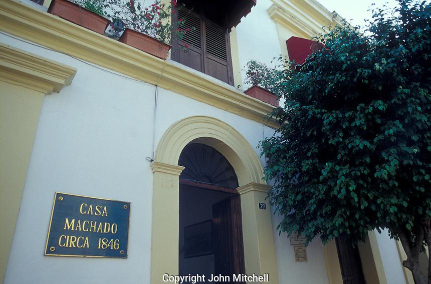The Casa Machado in old Mazatlan, Sinaloa, Mexico