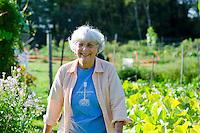 Gardener at community garden, Yarmouth ME