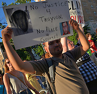 July 14, 2013  (Washington, DC)  Nearly 1,000 people  marched to Howard University to protest the acquittal of George Zimmerman after his trial for killing Trayvon Martin. (Photo by Don Baxter/Media Images International)