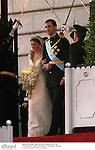 El Principe Felipe de Borbon y Letizia Ortiz el día de su boda. Madrid, España, 22/05/04..Prince Felipe of Borbon and Letizia Ortiz during their wedding day. Madrid, Spain, 05/22/04.