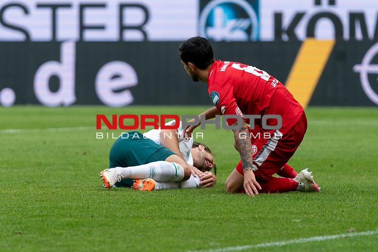 Niclas Füllkrug / Fuellkrug (Werder Bremen #11), Danny Latza (FSV Mainz 05 #06)<br /> <br /> <br /> Sport: nphgm001: Fussball: 1. Bundesliga: Saison 19/20: 33. Spieltag: 1. FSV Mainz 05 vs SV Werder Bremen 20.06.2020<br /> <br /> Foto: gumzmedia/nordphoto/POOL <br /> <br /> DFL regulations prohibit any use of photographs as image sequences and/or quasi-video.<br /> EDITORIAL USE ONLY<br /> National and international News-Agencies OUT.
