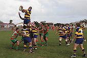 Patumahoe lock A. Olosoni takes lineout ball. Counties Manukau Premier Club Rugby, Waiuku vs Patumahoe played at Rugby Park, Waiuku on the 8th of April 2006. Waiuku won 18 - 15