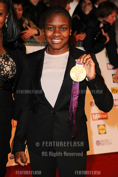Nicola Adams arriving for the 2012 Pride of Britain Awards, at the Grosvenor House Hotel, London. 29/10/2012 Picture by: Steve Vas / Featureflash