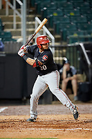 Chattanooga Lookouts first baseman Jonathan Rodriguez (30) at bat during a game against the Jackson Generals on April 27, 2017 at The Ballpark at Jackson in Jackson, Tennessee.  Chattanooga defeated Jackson 5-4.  (Mike Janes/Four Seam Images)