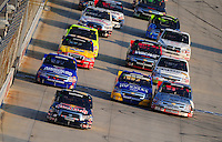 May 30, 2008; Dover, DE, USA; Nascar Craftsman Truck Series driver Scott Speed leads the field during the AAA Insurance 200 at Dover International Speedway. Mandatory Credit: Mark J. Rebilas-US PRESSWIRE.