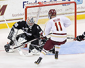 Alex Beaudry (PC - 35), Pat Mullane (BC - 11) - The Boston College Eagles defeated the visiting Providence College Friars 4-1 (EN) on Tuesday, December 6, 2011, at Kelley Rink in Conte Forum in Chestnut Hill, Massachusetts.