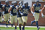 ATLANTA, GA, SEPT 23: The Pitt football team travels to take on the Georgia Tech Yellow Jackets in Bobby Dodd Stadium in Atlanta, Georgia on September 23, 2017. <br /> Photographer: Pete Madia/Pitt Athletics