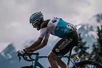 Alexis Gougeard (FRA/AG2R-La Mondiale)<br /> <br /> Stage 6: Frontenex &gt; La Rosi&egrave;re Espace San Bernardo (110km)<br /> 70th Crit&eacute;rium du Dauphin&eacute; 2018 (2.UWT)