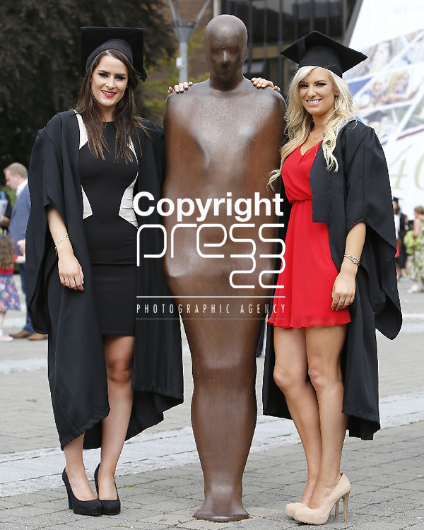 27/08/2013 Fiona Herlihy and Sinead Reynolds from Dungarvan, Co. Waterford who both received a PDe Business at the Interfaculty Awards Graduation at the University of Limerick. Picture: Don Moloney / Press 22