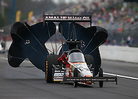 Mar 18, 2016; Gainesville, FL, USA; NHRA top fuel driver Terry McMillen during qualifying for the Gatornationals at Auto Plus Raceway at Gainesville. Mandatory Credit: Mark J. Rebilas-USA TODAY Sports