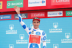 Luis Angel Mate Mardones (ESP) Cofidis retains the Polka Dot Jersey at the end of Stage 11 of the La Vuelta 2018, running 207.8km from Mombuey to Ribeira Sacra. Luintra, Spain. 5th September 2018.<br /> Picture: Unipublic/Photogomezsport | Cyclefile<br /> <br /> <br /> All photos usage must carry mandatory copyright credit (&copy; Cyclefile | Unipublic/Photogomezsport)