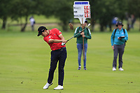 Minkyu Kim (KOR) plays his 2nd shot on the 3rd hole during Sunday's Final Round of the Northern Ireland Open 2018 presented by Modest Golf held at Galgorm Castle Golf Club, Ballymena, Northern Ireland. 19th August 2018.<br /> Picture: Eoin Clarke | Golffile<br /> <br /> <br /> All photos usage must carry mandatory copyright credit (&copy; Golffile | Eoin Clarke)
