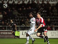 Pictured: Jason Scotland of Swansea City in action<br />