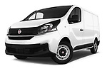 Stock pictures of low aggressive front three quarter view of 2017 Fiat Talento Pack 4 Door Cargo Van Low Aggressive