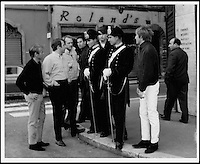 BNPS.co.uk (01202 558833).Pic: FameBureau/BNPS..Mid sixties Beach Boys arrive in Rome...Get me Wonga.....A 'lost' archive of original music manuscripts, contracts and pictures of the Beach Boys has emerged for sale for nearly seven million pounds...The vast collection, that spans the first 20 years of the band's hugely successful career and consists of thousands of documents, was found forgotten in a storage unit...The treasure trove includes the sheet music for the Beach Boys' classic hits like 'God Only Knows', 'Good Vibrations' and 'Fun, Fun, Fun.'..It also includes handwritten lyrucs, recording contracts and copyright certificates signed by Brian Wilson and Mike Love, musical arrangements, royalty cheques and personal letters...And there are more than 60 behind-the-scenes photos of the hugely successful American rock band, many of them never seen before..