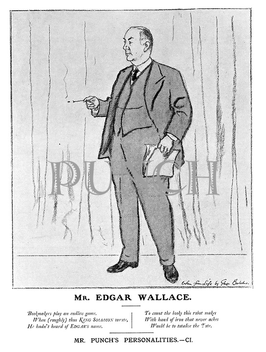 Mr Punch's Personalities. CI. Mr Edgar Wallace