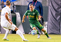13th July 2020, Orlando, Florida, USA;  Portland Timbers midfielder Sebastian Blanco (10) makes a run during the MLS Is Back Tournament between the LA Galaxy versus Portland Timbers on July 13, 2020 at the ESPN Wide World of Sports, Orlando FL.