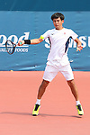 Sho Shimabukuro (JPN), <br /> AUGUST 22, 2018 - Tennis : <br /> Men's Doubles Round of 16<br /> at Jakabaring Sport Center Tennis Court <br /> during the 2018 Jakarta Palembang Asian Games <br /> in Palembang, Indonesia. <br /> (Photo by Yohei Osada/AFLO SPORT)