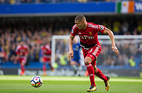 Richarlison of Watford during the Premier League match between Chelsea and Watford at Stamford Bridge, London, England on 21 October 2017. Photo by Andy Rowland.