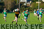 Kieran O'Leary  Dr Crokes in action against Martin McMahon Kilmurry Ibrickane in the Munster Senior Club Championship Semi Final at Lewis Road, Killarney on Sunday.