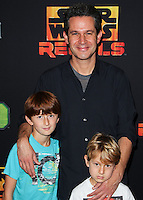"CENTURY CITY, CA, USA - SEPTEMBER 27: Simon Kinberg arrives at the Los Angeles Screening Of Disney XD's ""Star Wars Rebels: Spark Of Rebellion"" held at the AMC Century City 15 Theatre on September 27, 2014 in Century City, California, United States. (Photo by Celebrity Monitor)"